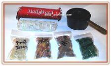 Handle Cauldron Incense Burner Charcoal and 3 Resin, Sage & Charcoa Kit travel