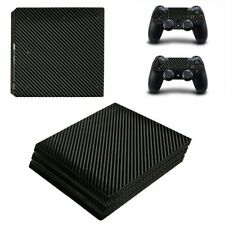 Carbon Fibre Style Black Textured Skin Sticker Decal Kit for Sony Ps4 Pro