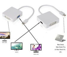 3 in1 Mini Display Port  DP Thunderbolt to HDMI VGA Adapter Cable f MacBook Pro