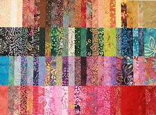"BATIK RAINBOW - Huge set of Gorgeous Rainbow BATIKS - 5"" Charm Squares x 100"