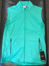 NWTs KJUS Men's Dorian Windbreaker Golf Vest. 50 EU / Medium. Cell Stone(sample)
