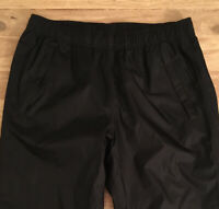 Under Armour Mens Black Storm 3 Pull-On Lined Loose Fit Zip Leg Golf Pants Small