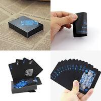 54pcs/set Hot Black Plastic PVC Poker Waterproof Magic Playing Cards Table Games