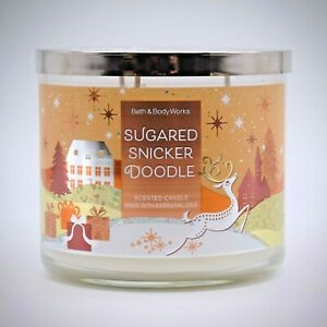 Bath Body Works Sugared Snickerdoodle Candle Large 3 Wick Scented 14.5 Oz