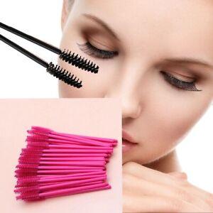 50Pc Set Eyelash Brushes Makeup Spoolers Eyelashes Brush Tool Cosmetic