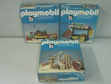 PLAYMOBIL SYSTEM SET 3 SCATOLE 3205 - 3206 - 3296 ANNI '70