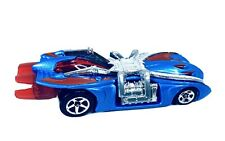 2000 Hot Wheels Arachnorod Spider-man Race Car Blue Red Silver Marvel RARE 052