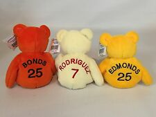 1998 Barry Bonds Ivan Rodriguez Jim Edmonds Salvino's Bamm Beano's Plush Beanie