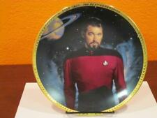 1993 Star Trek Next Generation Tv Commander William Riker Collector Plate & Coa