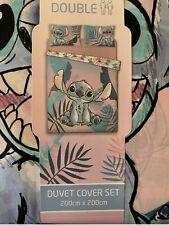 Primark rare Disney Stitch Double Bedding Duvet Cover Set Brand New