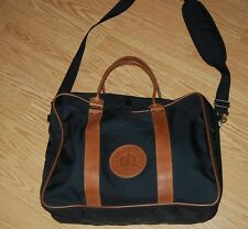 vintage Transport Union black tan leather travel weekender crossbody bag USA NEW