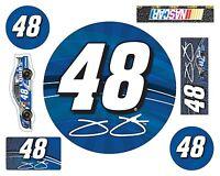 NASCAR #48 Jimmie Johnson 7 PC DECAL SET-Jimmie Johnson 7 PIECE STICKER SET