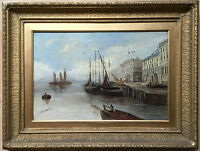 J.C.B. Morris 19th Century Large oil painting on canvas signed dated framed