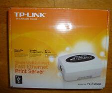 TP-Link TL-PS110U Usb2.0 Port Fast Ethernet Print Server NEW