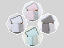 New Baby Blanket Set / Cotton & Minky / 75x100cm / for cot, cot bed, crib & pram