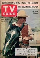 1964 TV Guide September 26 - Dan Blocker - Bonanza; Stella Stevens; Sophia Loren