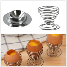 Practical Egg Cup Egg Holder Egg Mug Round Stainless Steel Spring Egg Stand CS