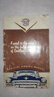 Cadillac Owner's Manual, Circa 1950's