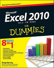 Excel 2010 All-In-One for Dummies (R) by Greg Harvey New Paperback Book