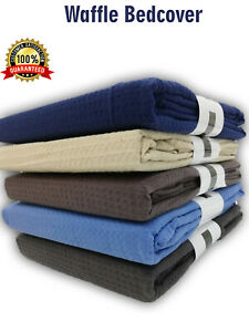 100% Cotton Large Bed Throw Waffle Weave Sofa Cover Blanket King Size Bed cover