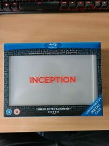 Inception (Blu-ray, 2010, 3-Disc Set) Limited Edition Metal Case