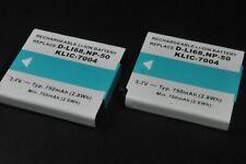 2 Batterie li-ion Pentax D-Li68 / D-Li122 Fuji NP-50 / NP-50A Kodak KLIC-7004