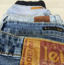 Womens Jeans Lot of 5 L.E.I. Justice Silver Crush Size 13 11/12 14.5 LOT A
