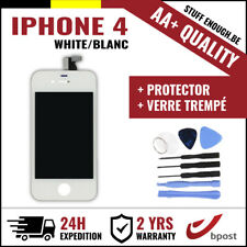AA+ LCD TOUCH SCREEN/SCHERM/ÉCRAN WHITE BLANC & VERRE TREMPÉ +TOOLS FOR IPHONE 4