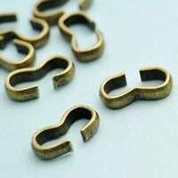 60pc 10g Cord End Tips Crimps Connectors Bead Caps Terminators 8x4x2mm Findings