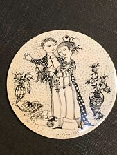 Rosenthal Bjorn Wiinblad Black & White Wall Hanging Plaque Plate, November