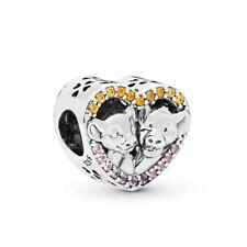 Lion King REAL 925 Sterling Silver Charm Bead Tennis Bracelet Cat Simba Narla