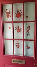 Bloody Hand Print Halloween Window Sticker Clings Decals -{[Buy 2 Get 1 Free]}-