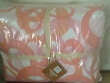 POTTERY BARN TEEN LUCY RINGS SUPER POUF COMFORTER WARM (PINK/CORAL) F/Q NEW