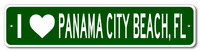 I Love PANAMA CITY BEACH, FLORIDA  City Limit Sign
