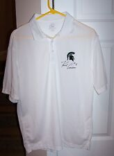 RARE!  Kirk Cousins Autographed Michigan State Spartans White XL Polo Shirt