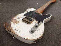New Style Handwork RELIC TL Electric Guitar Vintage Tuner ASH Body Bone Nut