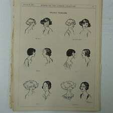 "7x10 ""Punch Cartoon 1923 vacaciones problemas Cabello Estilo / Bob"