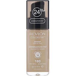 New Revlon Colorstay Normal/Dry Skin Foundation, Sand Beige #180 1.0 fl oz