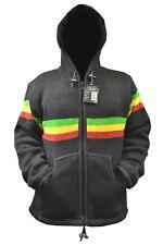 Handmade Fleece Lined Winter RASTA JAMAICA INSPIRED unisex thick woolen Jacket