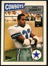 Tony Dorsett #57 Dallas Cowboys Topps 1987 Tarjeta de Fútbol Americano (C553)