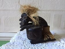 Vintage African Ashtray Hand Carved Wooden Gargoyle + Extra