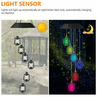 Solar Wind Chime Light Color Changing Hanging Garden Outdoor Home Decor Gift W