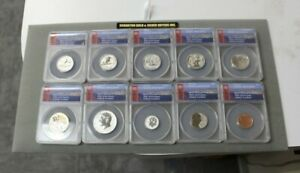 Complete 2018-S Silver Reverse Proof Set RP70 DCAM Silver ANACS certified