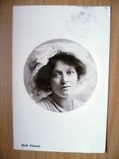 1909 Postcard- Actress RUTH VINCENT, Printed in Germany + Stamp