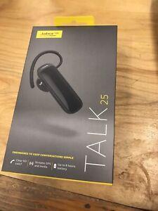 Jabra Talk 25 Black Bluetooth In Ear Headsets. New!!