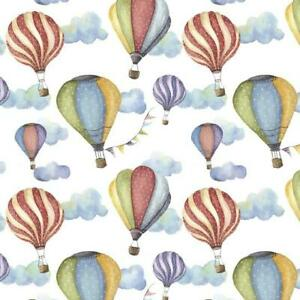 Hot Air Balloons Gift Wrap Sheet,Watercolour Hot Air Balloon Wrapping Paper