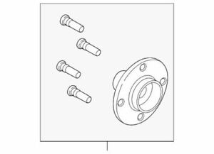 Genuine Ford Front Hub BE8Z-1104-A