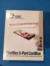 Siig FireWire CardBus Dual New Sealed.