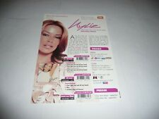 More details for kylie minogue - 1 page french promo leaflet for