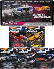 Fast & Furious Premium Fast Rewind Set 5 Modellautos + BOX 1:64 Hot Wheels GRB02